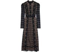 Guipure Lace Midi Dress Black