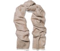 Distressed alpaca and wool-blend scarf