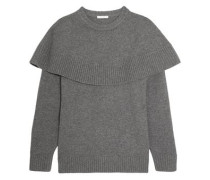 Layered Cashmere Sweater Gray