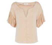 Gabby ruffled stretch-silk blouse