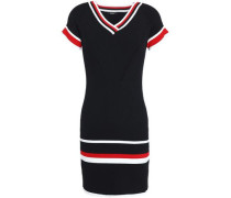 Ribbed intarsia-knit mini dress
