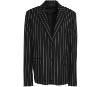 Pinstriped wool-blend twill blazer