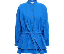 Stretch-cotton Poplin Shirt Blue