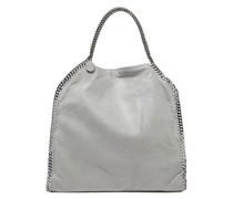 Woman Falabella Faux Brushed-leather Tote Light Gray