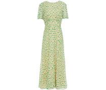 Woman Fil Coupé Printed Cotton-gauze Midi Dress Beige