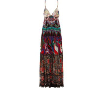 Printed silk-georgette maxi dress