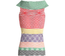 Stretch-knit top