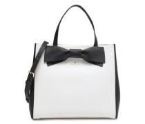 Clement Street Brigette bow-embellished leather shoulder bag