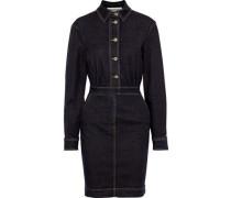 Woman Denim Mini Dress Dark Denim