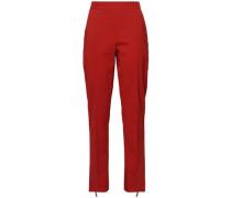 Wool-blend Straight-leg Pants Brick