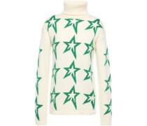 Intarsia Wool Turtleneck Sweater Ivory