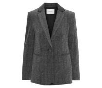 Herringbone Cotton-blend Velvet Blazer Gray Size 00