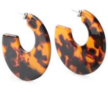 Tortoiseshell Acrylic Earrings Light Brown Size --