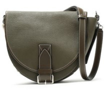 Bike Lace-up Smooth And Textured-leather Shoulder Bag Army Green Size --