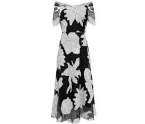 Cutout Fil Coupé Cotton-blend Midi Dress White  0