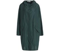 Draped shell hooded jacket