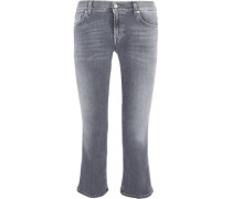 Mid-rise cropped flared jeans