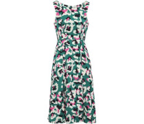 Talon Pleated Jacquard Dress Jade