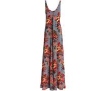 Floral-print georgette maxi dress