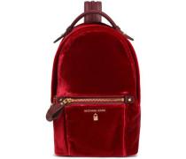 Woman Velvet Backpack Claret