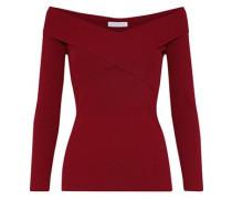 Jova off-the-shoulder ribbed-knit top