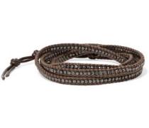 Silver-tone beaded bracelet