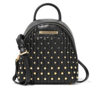 Mini Studded Quilted Leather Backpack Black Size --