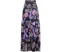 Silk-jacquard Maxi Skirt Midnight Blue