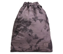Printed Woven Backpack Taupe Size --