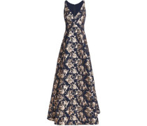 Flared brocade gown