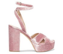 Mara velvet platform sandals