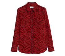 Leopard-print silk shirt