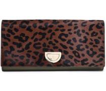 Leopard-print Calf Hair Clutch Animal Print Size --