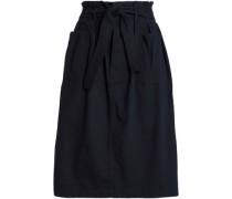 Belted Cotton Skirt Midnight Blue