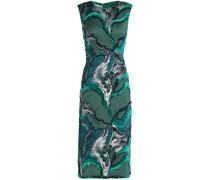 Metallic fil coupé midi dress