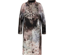 Cotton and silk-blend coat