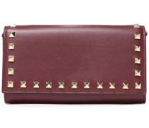 Rockstud Leather Continental Wallet Grape Size --