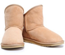 Cosy Shearling Ankle Boots Sand