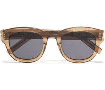 D-frame Tortoiseshell Acetate Sunglasses Mustard Size --