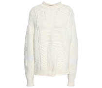 Paneled Wool And Camel-blend Sweater Ecru