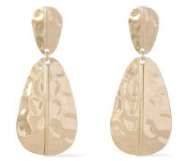 Hammered Gold-tone Earrings Gold Size --