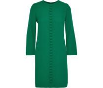 Woman Houston Button-embellished Crepe Mini Dress Jade