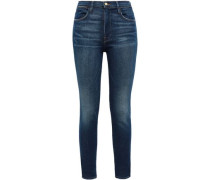 Clipper Street High-rise Skinny Jeans Dark Denim  3