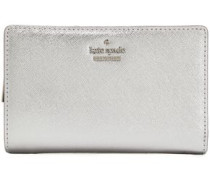 Metallic Leather Wallet Silver Size --
