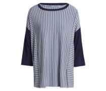 Striped modal-blend jersey pajama top