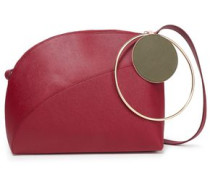 Textured-leather Shoulder Bag Plum Size --
