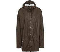 Coated Shell Hooded Raincoat Dark Brown  /S