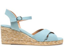 Blaudell canvas espadrille wedge sandals