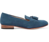 Gaston tasseled suede loafers
