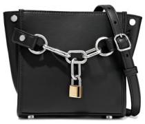 Attica Chain-embellished Leather Shoulder Bag Black Size --
